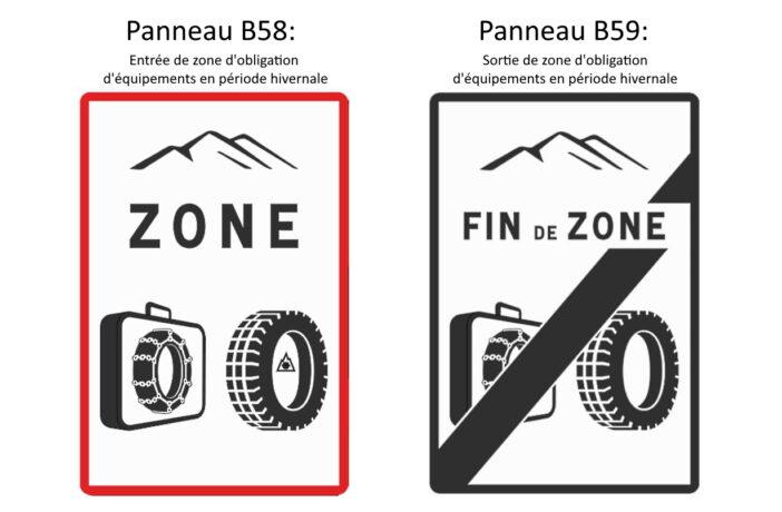 Obligation de détenir des chaînes ou d'équiper les véhicules de pneus hiver à partir du 1er novembre 2021